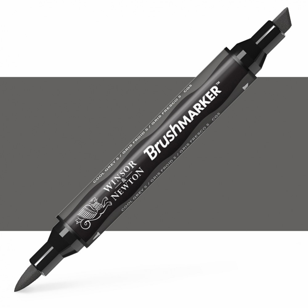 Winsor & Newton : Brush Marker : Cool Grey 5