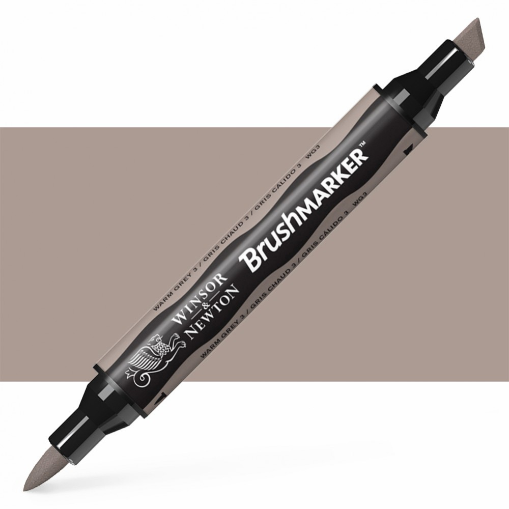 Winsor & Newton : Brush Marker : Warm Grey 3