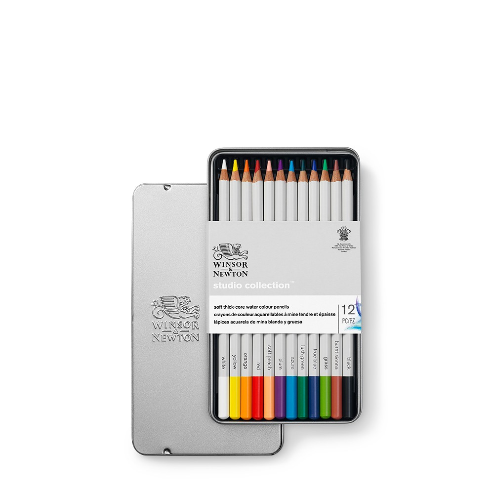 Winsor & Newton : Studio Collection : Soft Core Watercolour Pencil : Set of 12