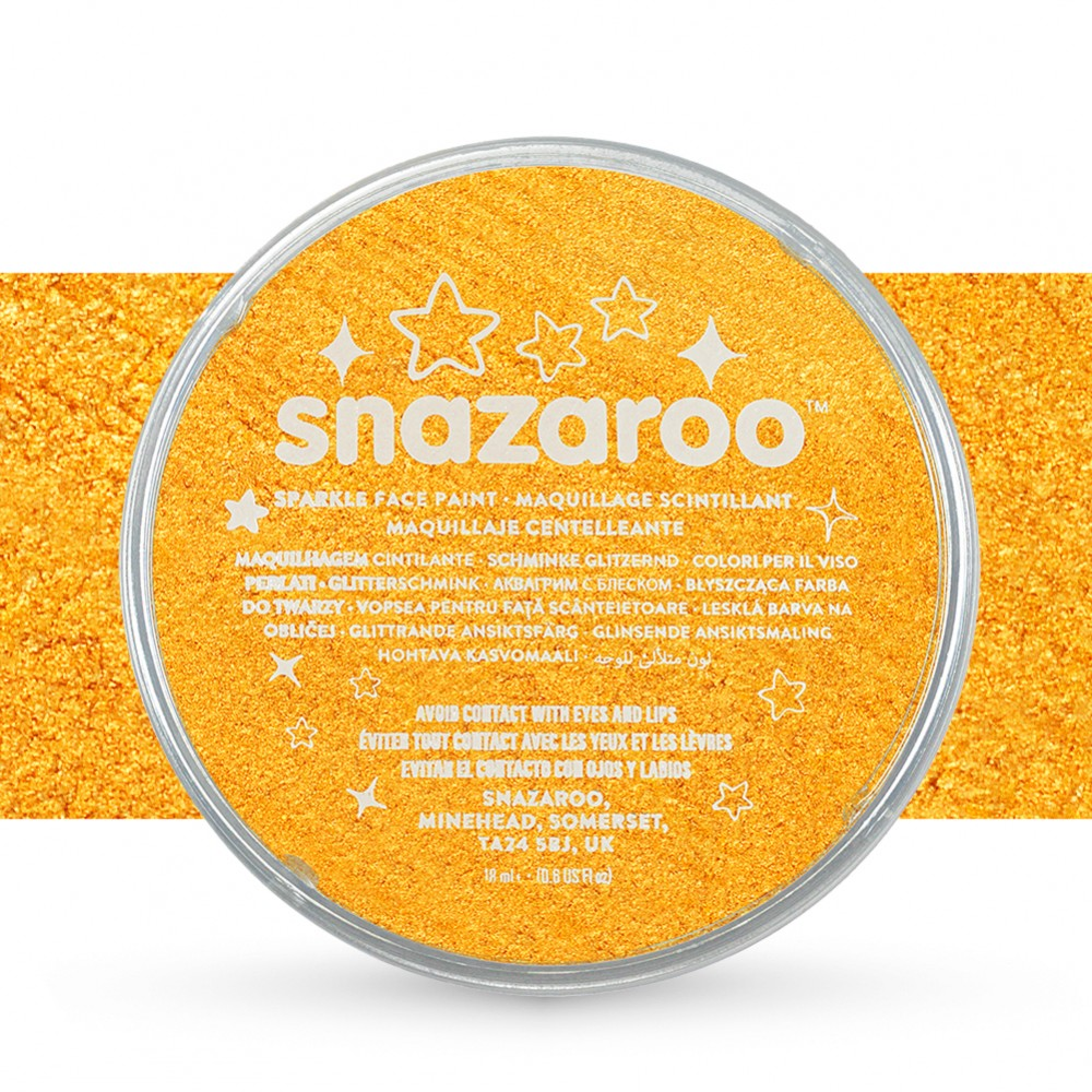 Snazaroo Face Paints Individual Sparkle Colours 18ml Yellow
