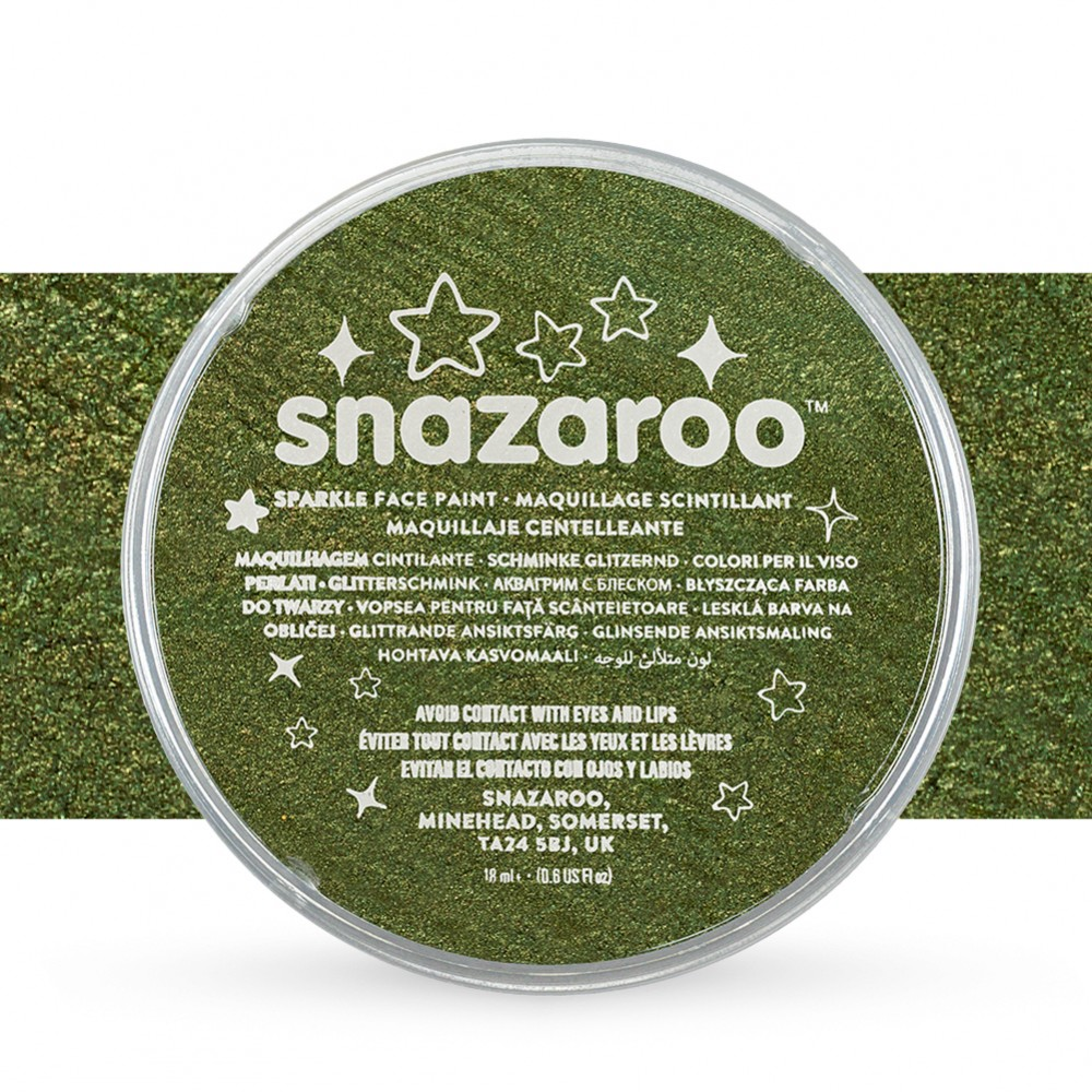 Snazaroo : Face Paints Individual Sparkle Colours 18ml Green