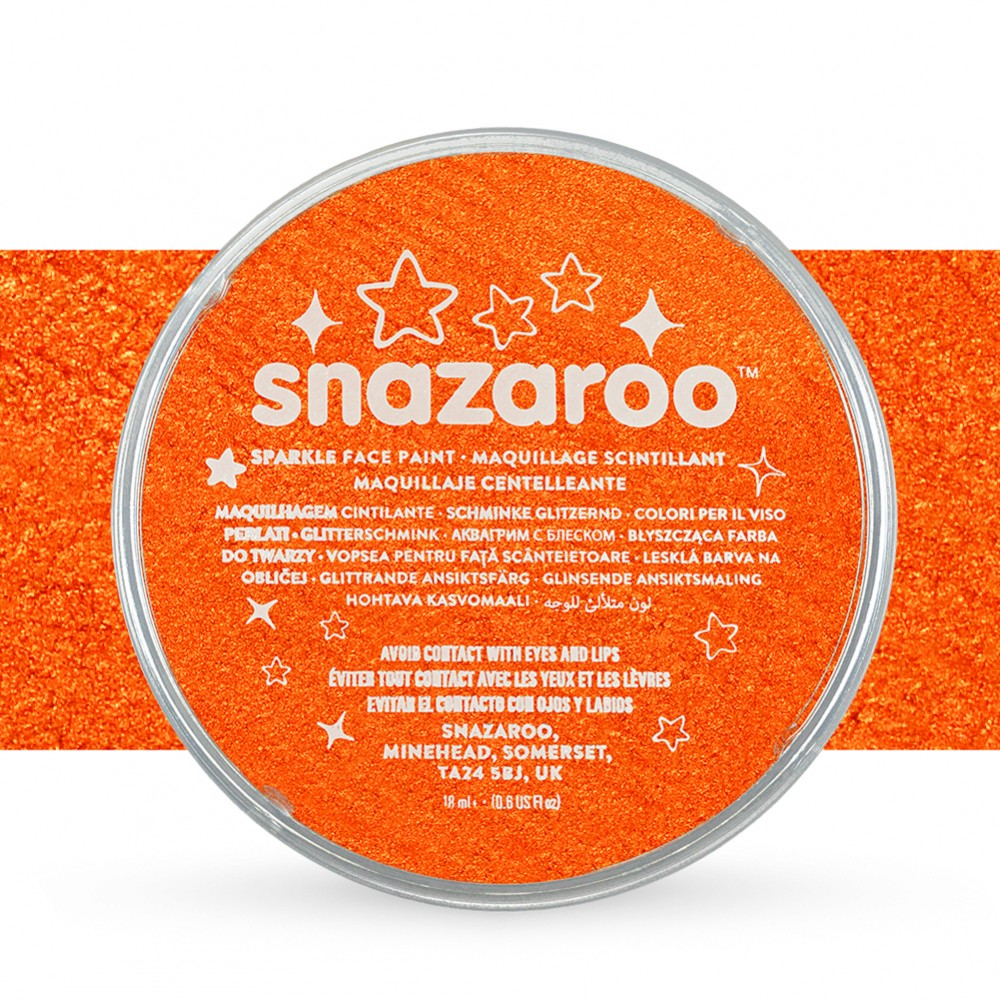 Snazaroo Face Paints Individual Sparkle Colours 18ml Orange