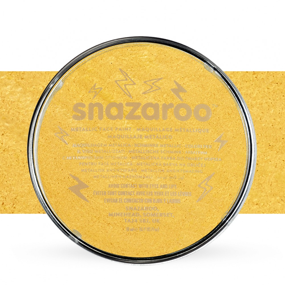 Snazaroo Face Paints Individual Metalic Colours 18ml Gold