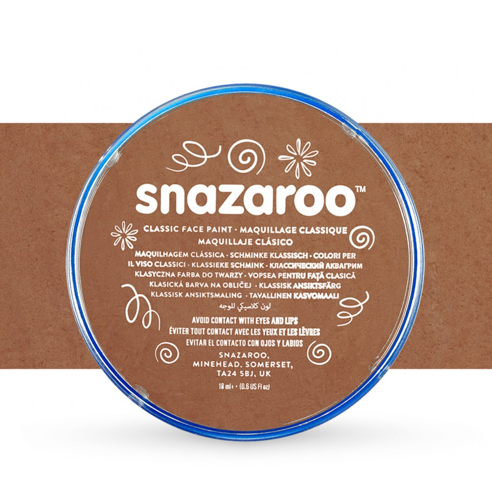Snazaroo Face Paints Individual Classic Colours 18ml Beige Brown