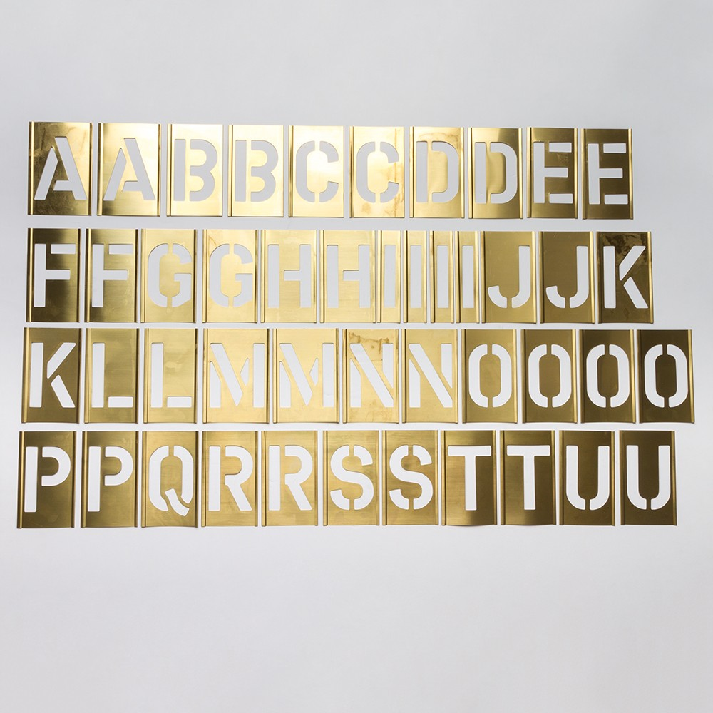 Handover : Interlocking Alphabet/Lettering Stencils in a 76 Piece Set : 2 in