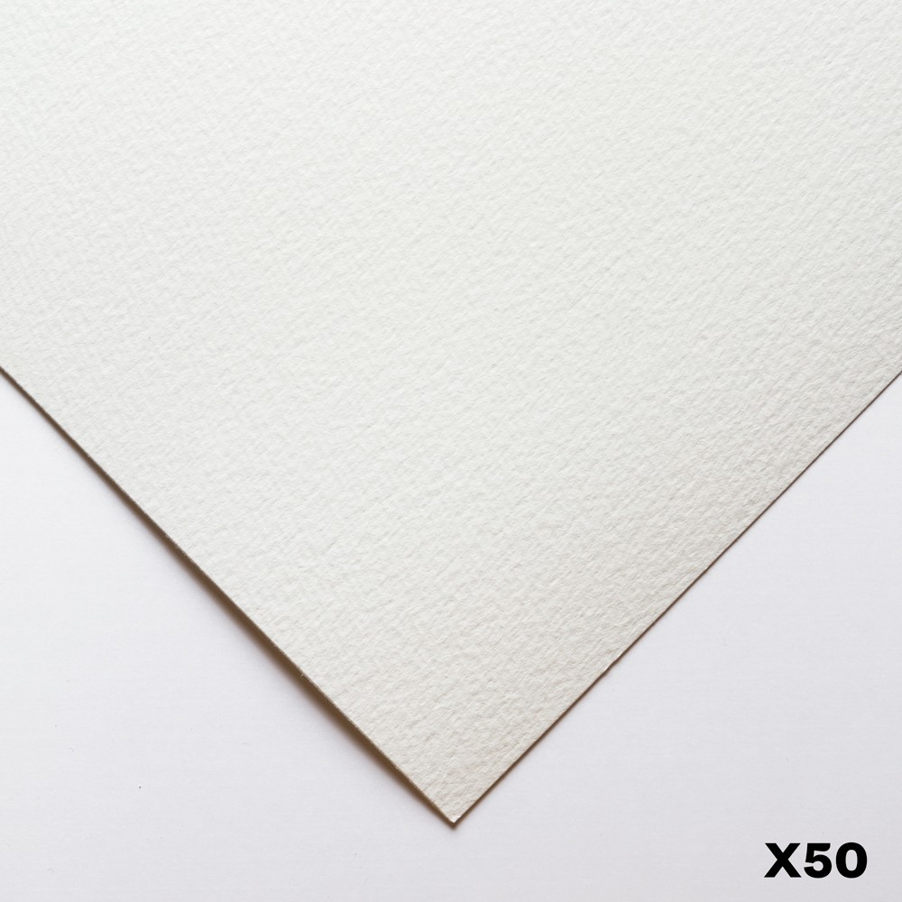 Bockingford : 140lb : 300gsm : Pack of 50 1/2 Sheets : 22x15in : Rough