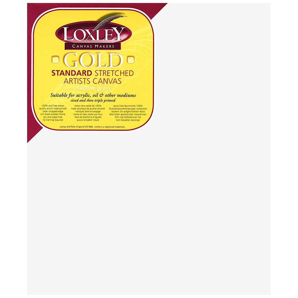 Loxley : 16mm Standard Bar Stretched Canvas : With Curved Corners : 10inx12in