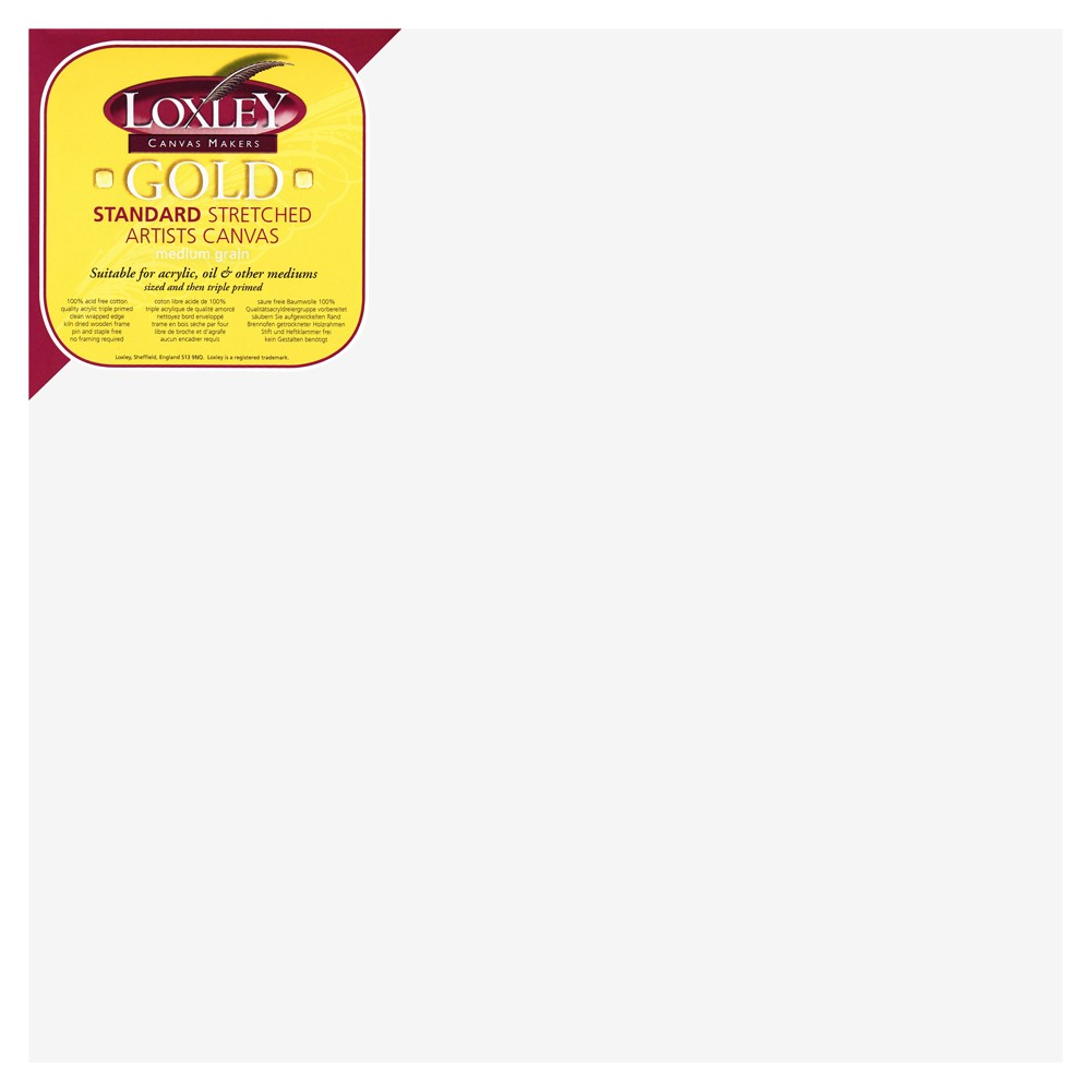 Loxley : 16mm Standard Bar Stretched Canvas : With Curved Corners : 16inx16in