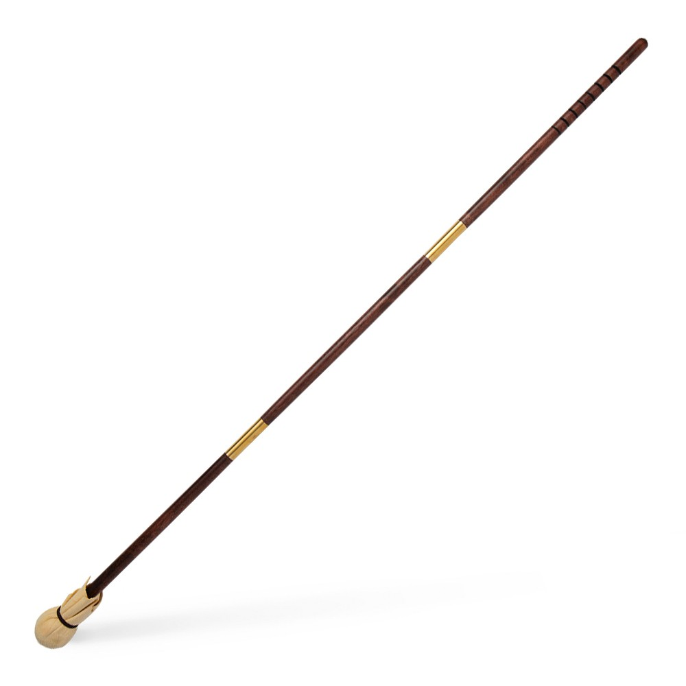 Handover : 3 Piece Wooden Mahl Stick : with Ball and Leather