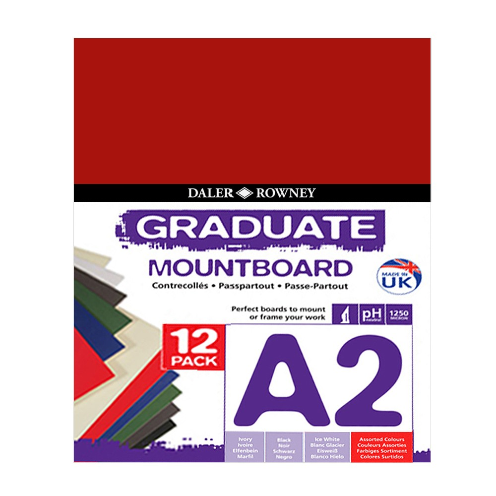 Daler Rowney : Graduate Mountboard A2 : Assorted : Pack of 5
