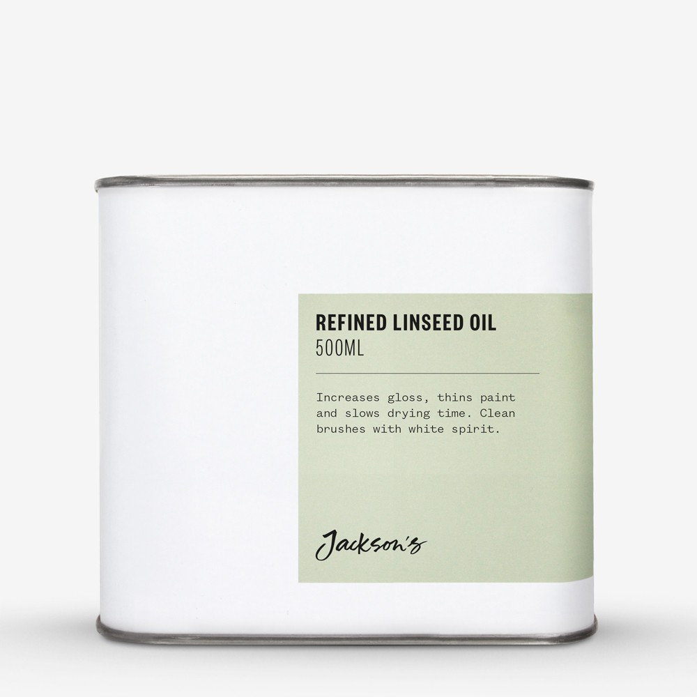 Jackson's : Refined Linseed Oil 500ml - Artist's Alkali Refined