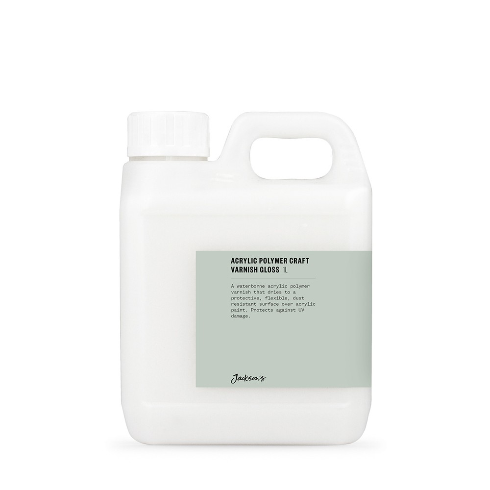 Jackson's : Acrylic Polymer Varnish GLOSS : 1 litre with UV stabilisers