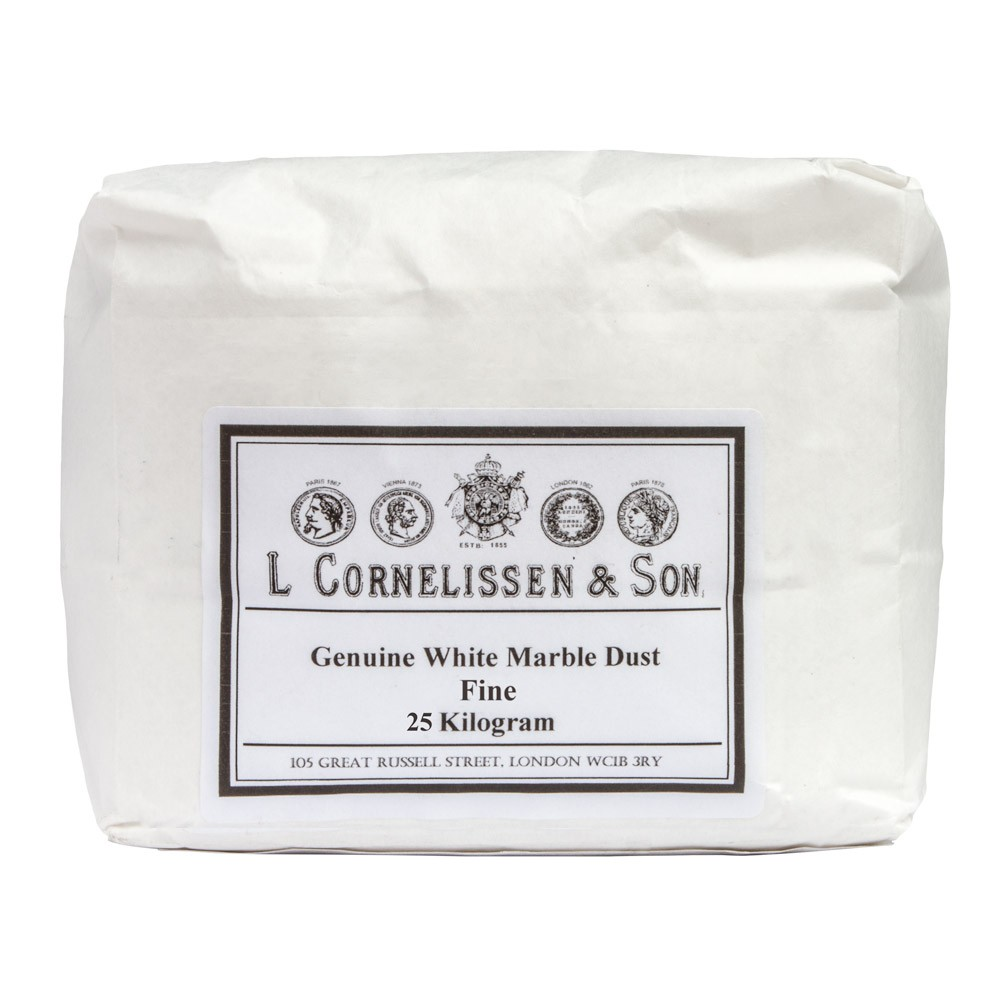 Cornelissen : Marble Dust Fine Grain : Genuine White : 25kg allow 2 weeks extra for delivery