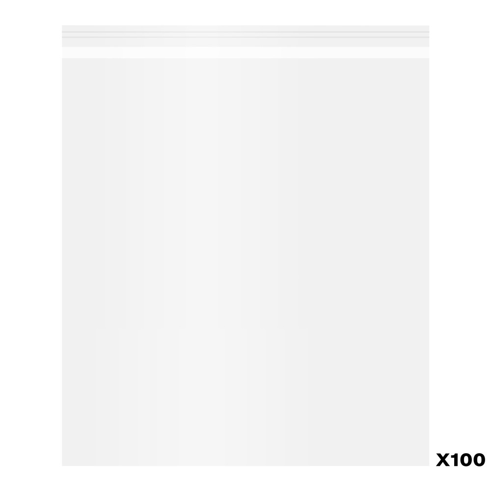 Jackson's : Self-Seal Polypropylene Bag : Pack of 100 : 10x12in