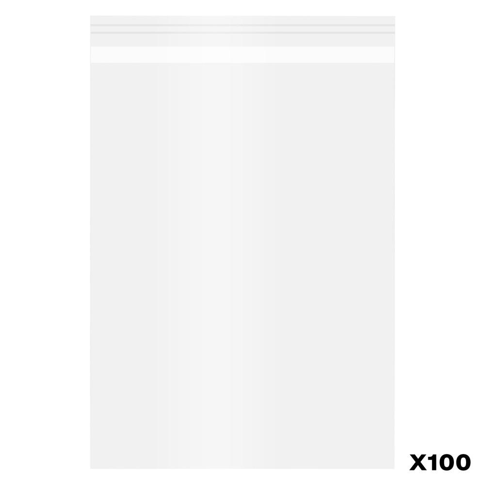 100 Pack of Polypropylene Bags self-seal : A5