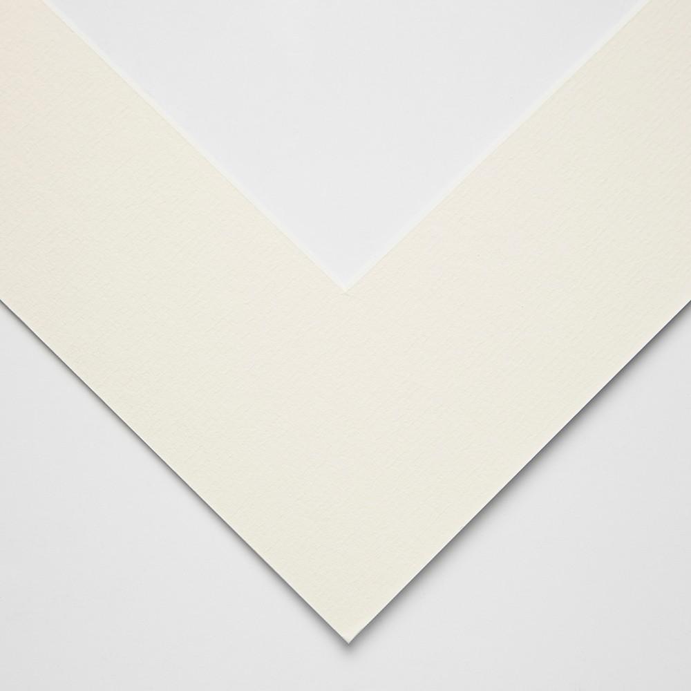 Jackson's : White Core Pre-Cut Mounts : 1.4mm outer size : 35x46cm aperture size : 24x34cm : Antique White : Box of 25