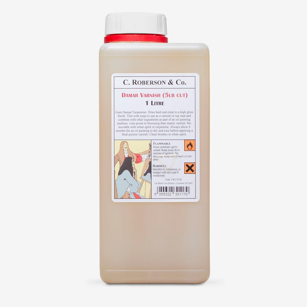 Roberson : Dammar Varnish : 5lb Cut : 1 Litre : By Road Parcel Only