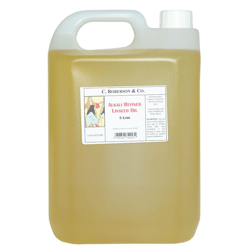 Roberson : Alkali Refined Linseed Oil : 5 Litre