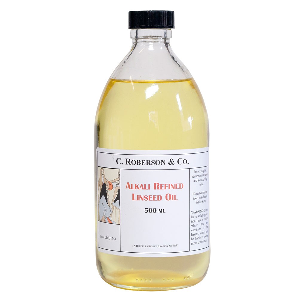 Roberson : Alkali Refined Linseed Oil : 500ml