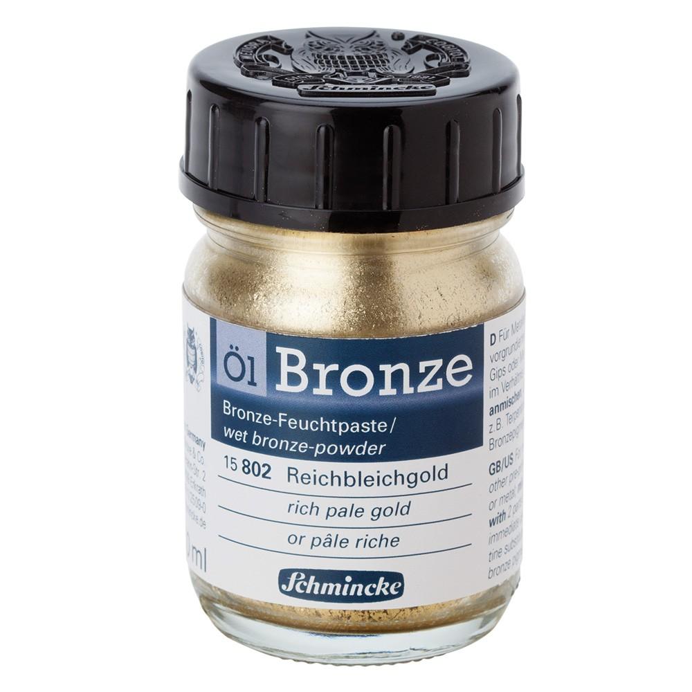 Schmincke : Oil Bronze Powder : 50ml : Rich Pale Gold : By Road Parcel Only