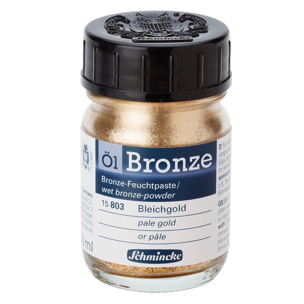 Schmincke : Oil Bronze Powder : 50ml : Pale Gold : By Road Parcel Only