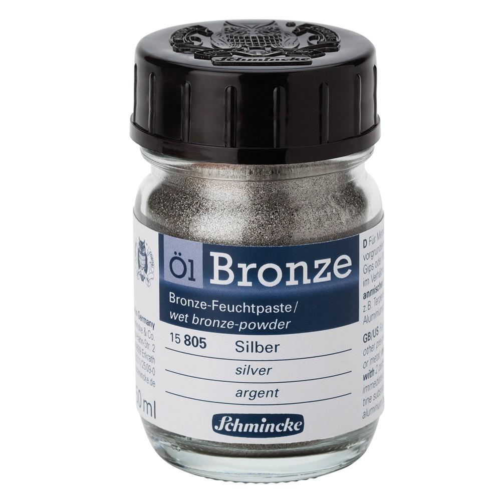Schmincke : Oil Bronze Powder : 50ml : Silver : By Road Parcel Only