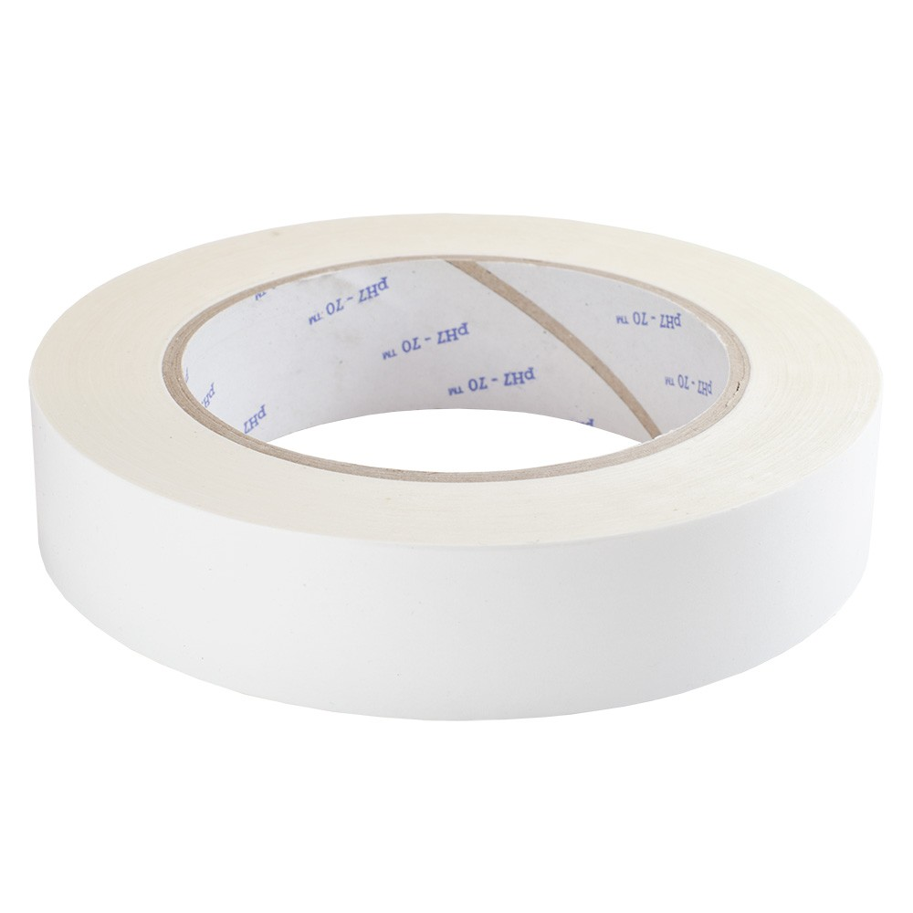 Acid Free Adhesive Paper Tape, Single Sided White 25mm x 66m