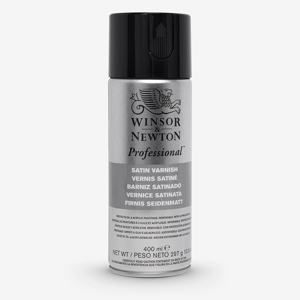 Winsor & Newton : Artists Picture Varnish Spray : 400ml : Satin : By Road Parcel Only