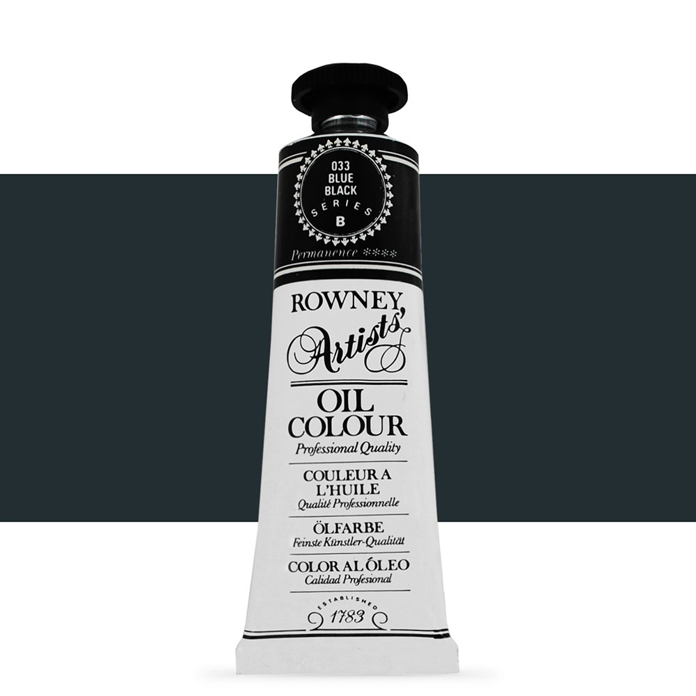 Daler Rowney : Artists' Oil Paint : 38ml : Blue Black