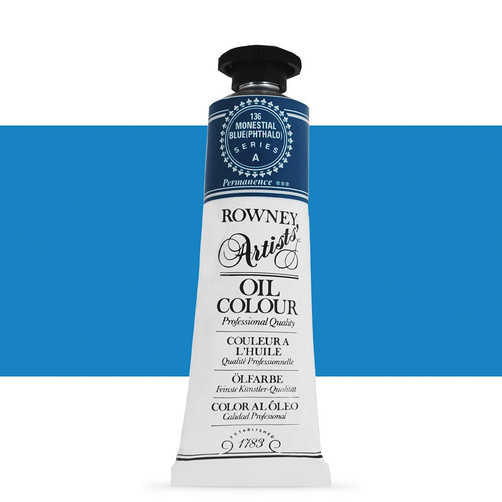 Daler Rowney : Artists' Oil Paint : 38ml : Monestial Blue Phthalo
