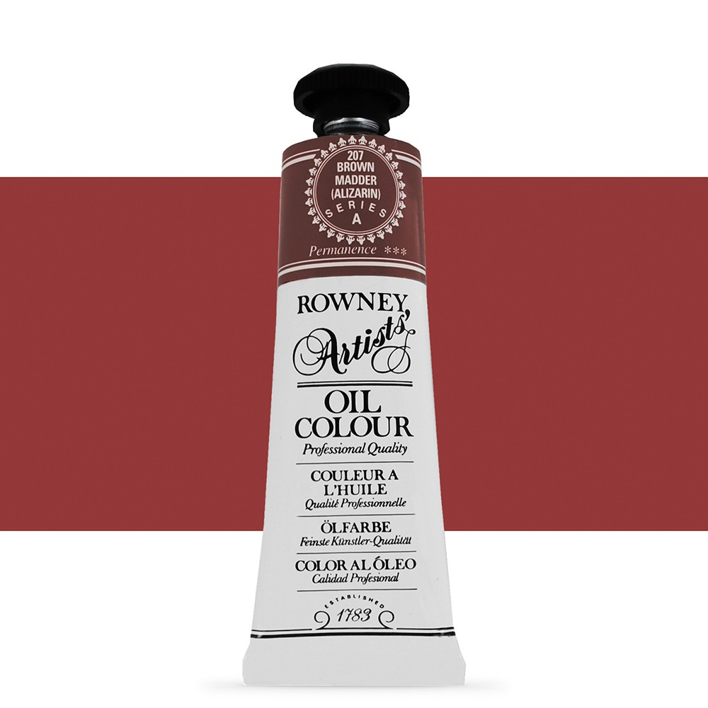 Daler Rowney : Artists' Oil Paint : 38ml : Brown Madder Alizarin