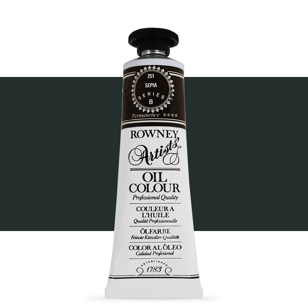Daler Rowney : Artists' Oil Paint : 38ml : Sepia