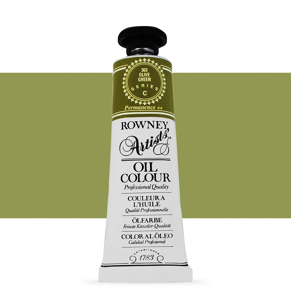 Daler Rowney : Artists' Oil Paint : 38ml : Olive Green
