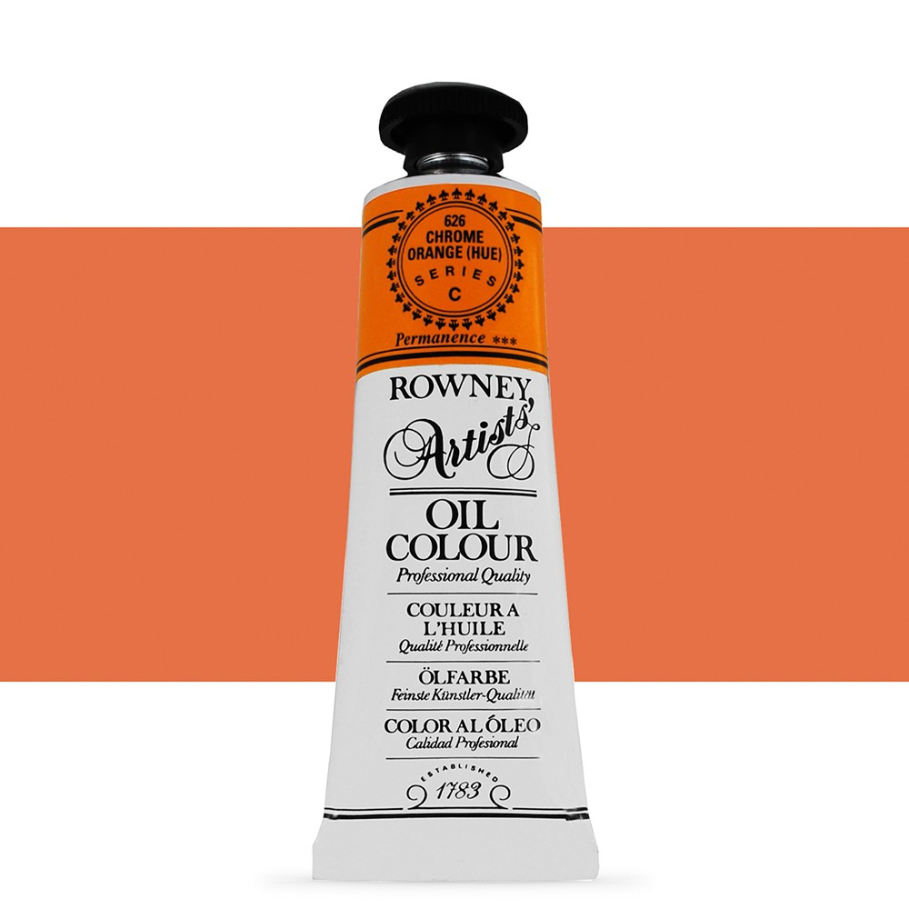 Daler Rowney : Artists' Oil Paint : 38ml : Chrome Orange Hue