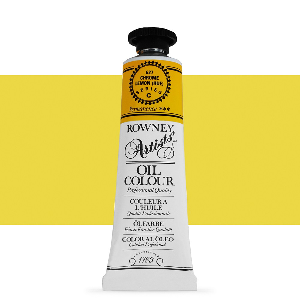 Daler Rowney : Artists' Oil Paint : 38ml : Chrome Lemon Hue