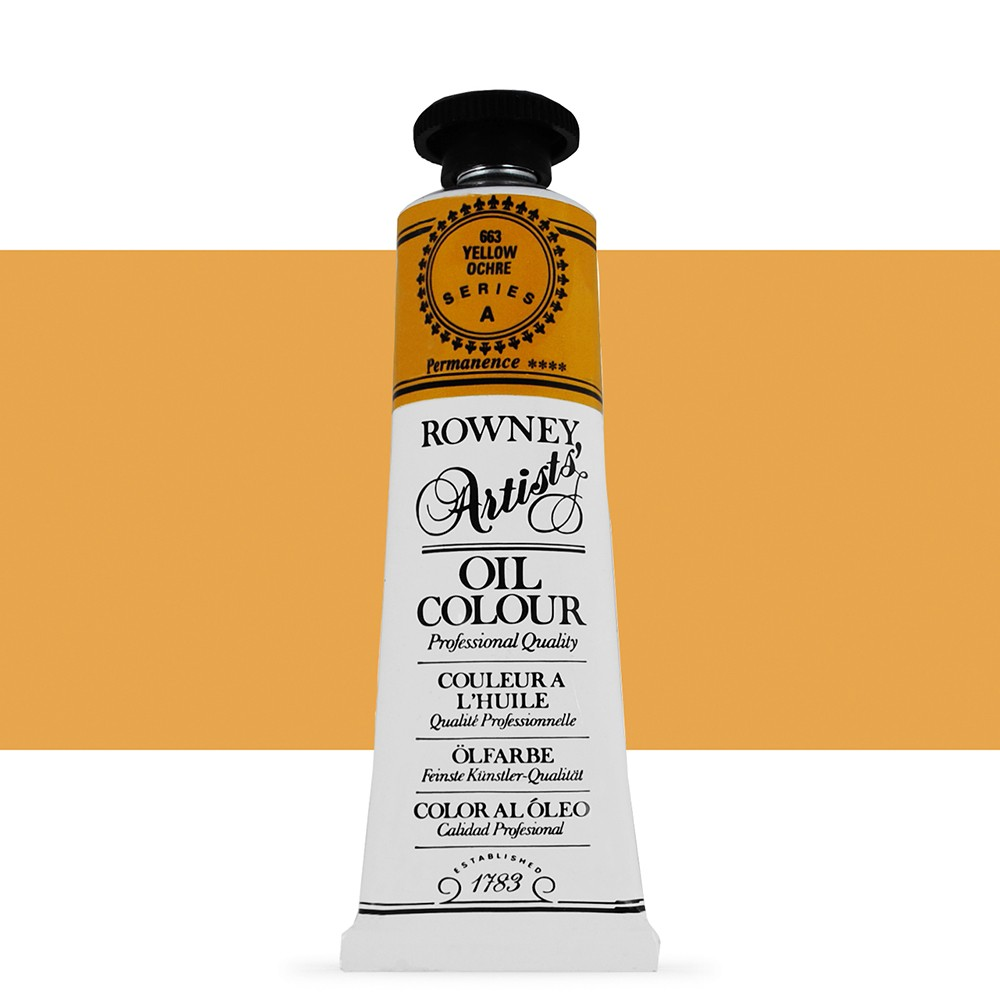 Daler Rowney : Artists' Oil Paint : 38ml : Yellow Ochre