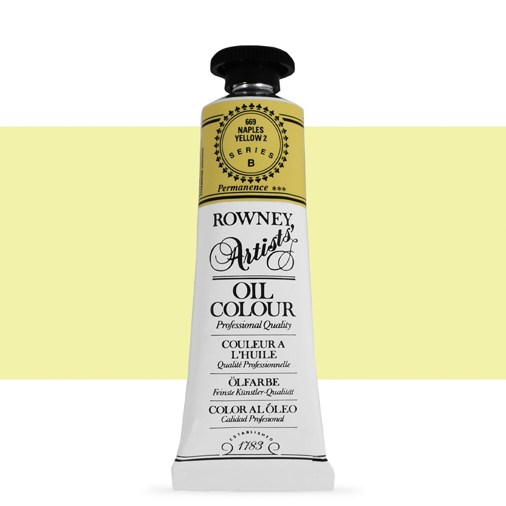 Daler Rowney : Artists' Oil Paint : 38ml : Naples Yellow 2