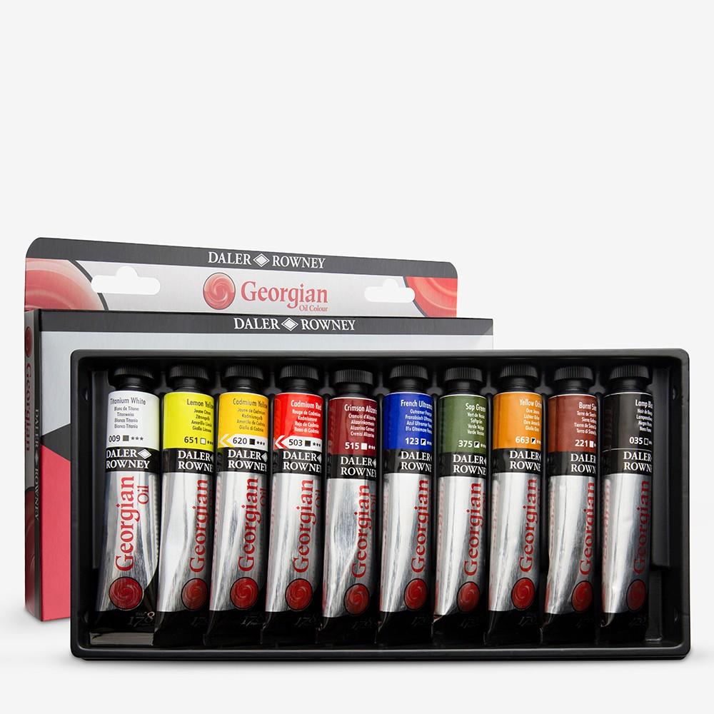 Daler Rowney : Georgian Oil Paint : Introductory Set : 22ml : Set Of 10