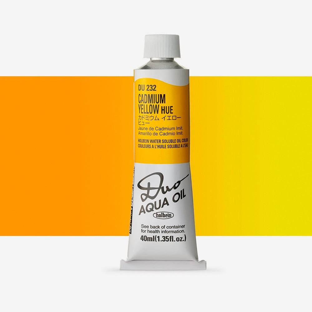 Holbein Duo-Aqua : Cad. Yellow Hue : 40ml tube