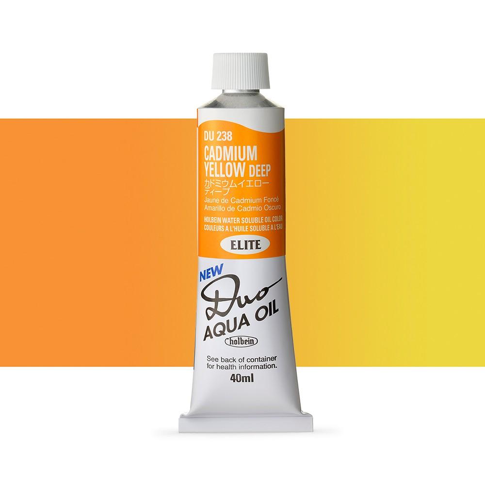 Holbein Duo-Aqua : Cadmium Yellow Deep : 40ml tube