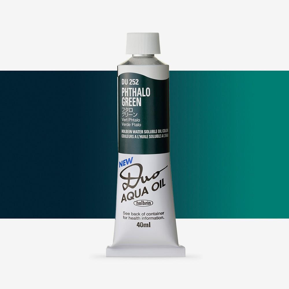 Holbein Duo-Aqua : Phthalo Green : 40ml tube