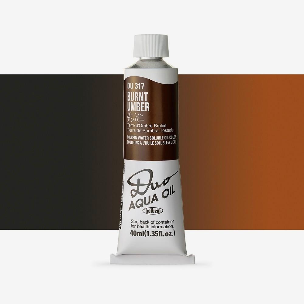 Holbein Duo-Aqua : Burnt Umber : 40ml tube