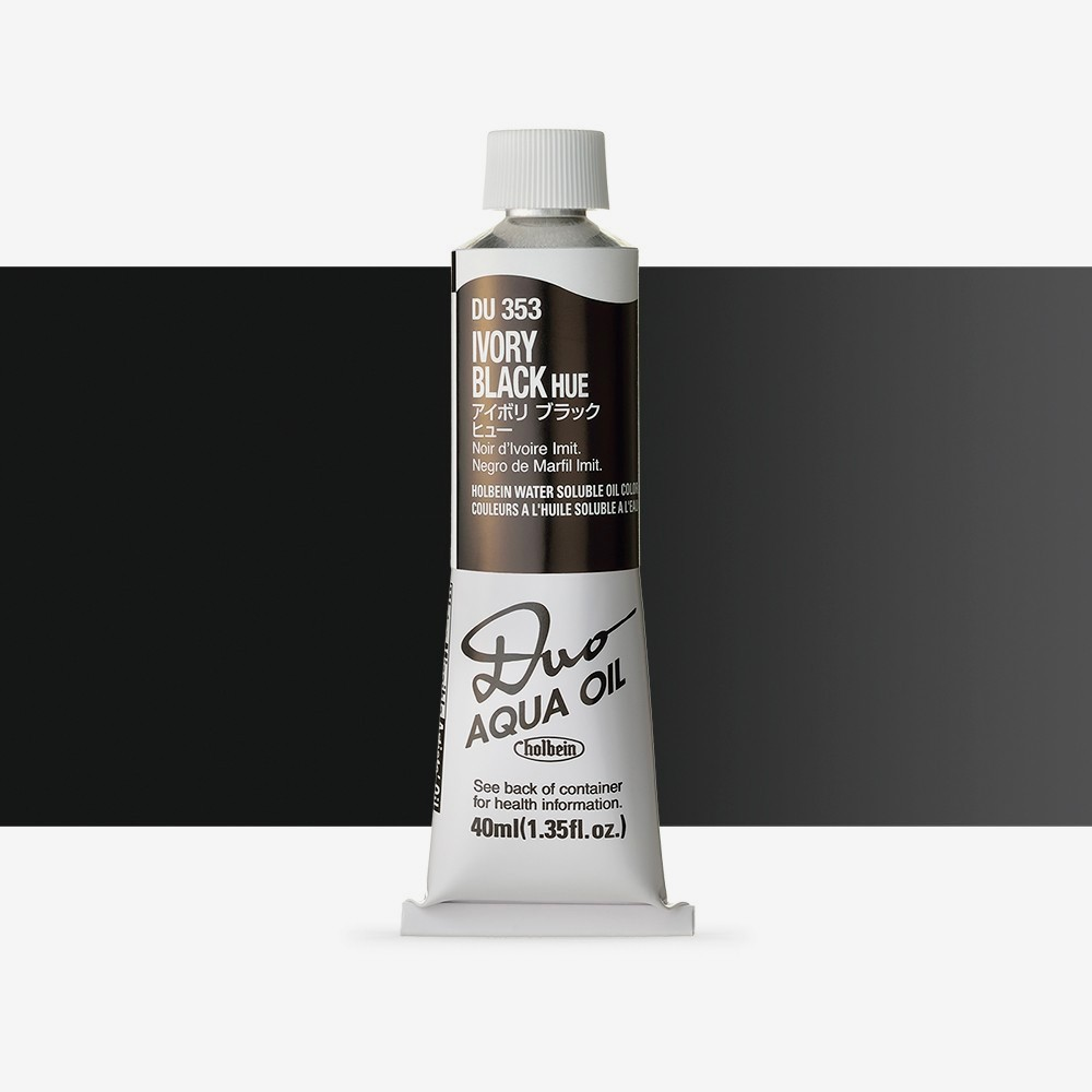 Holbein Duo-Aqua : Ivory Black Hue : 40ml tube