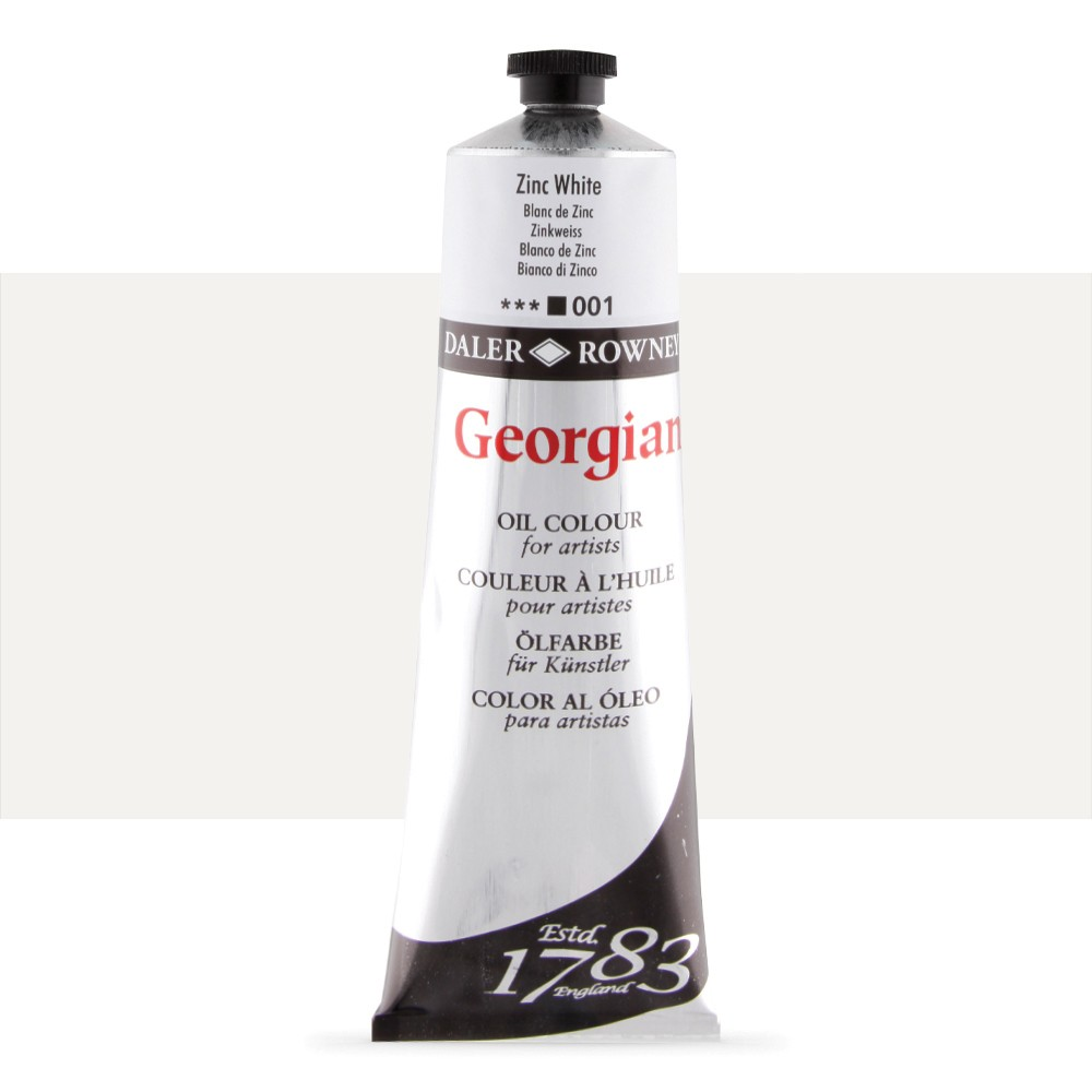 Daler Rowney : Georgian Oil Paint : 225ml : Zinc White