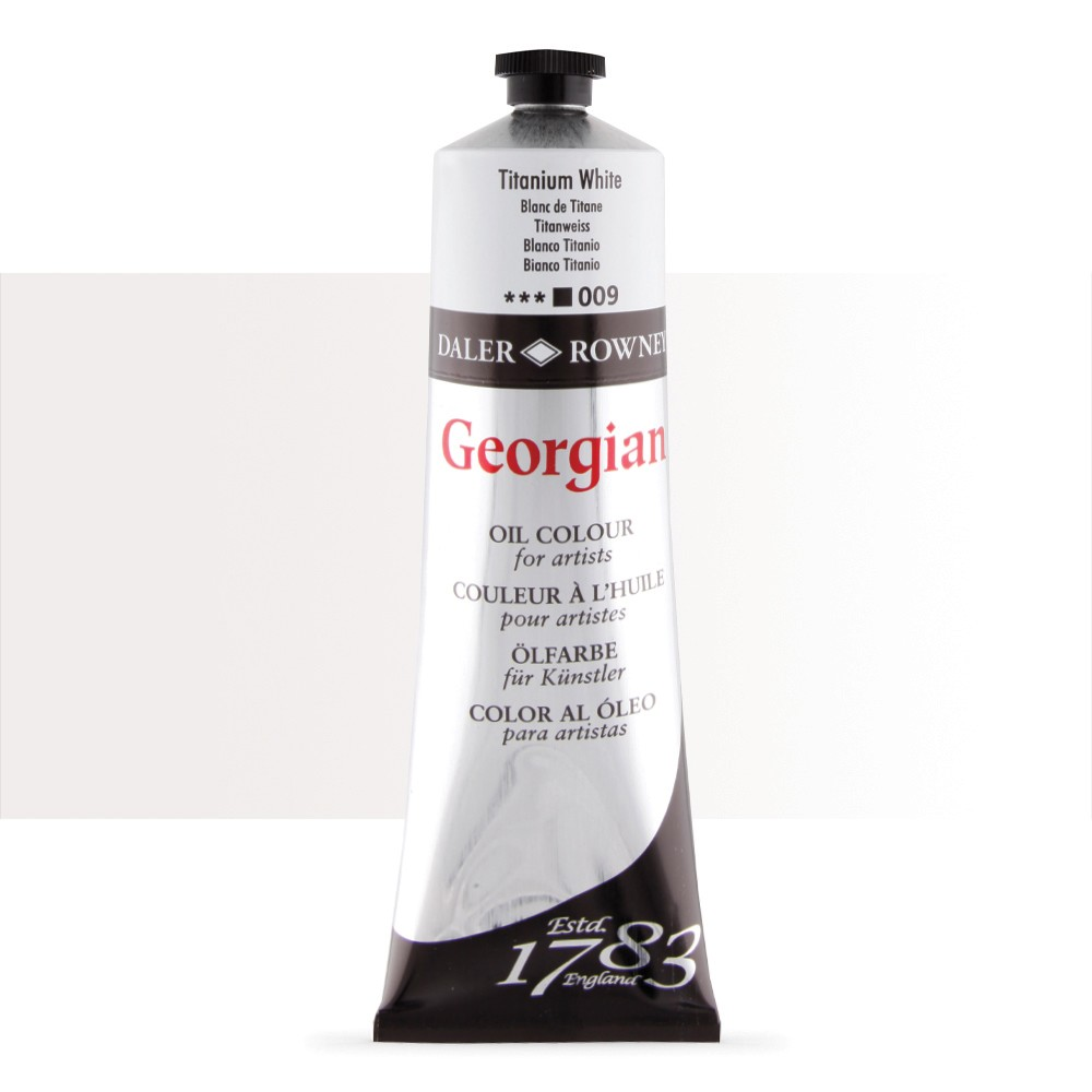 Daler Rowney : Georgian Oil Paint : 225ml : Titanium White