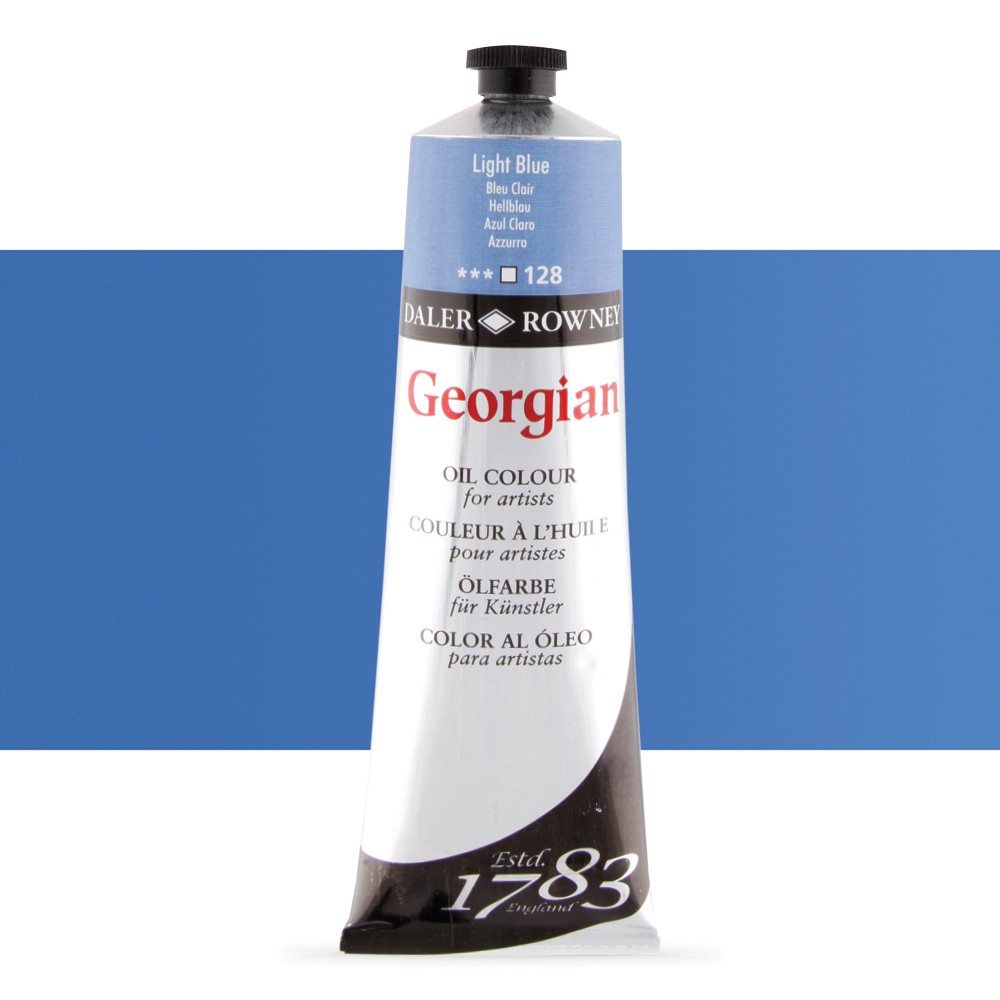 Daler Rowney : Georgian Oil Paint : 225ml : Light Blue
