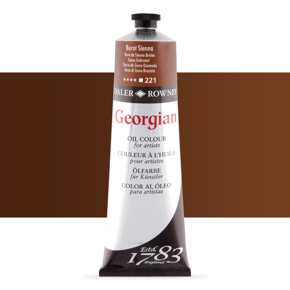 Daler Rowney : Georgian Oil Paint : 225ml : Burnt Sienna