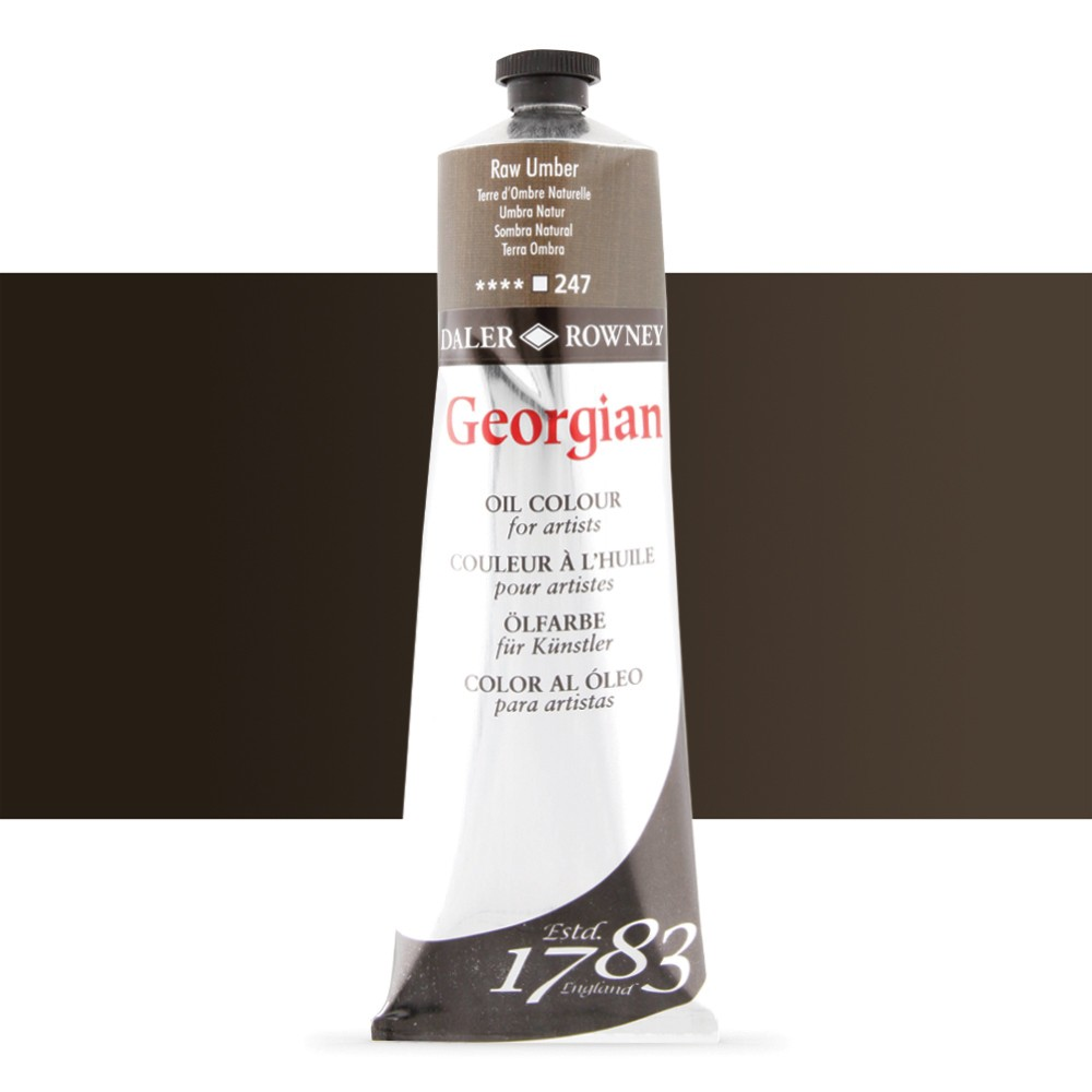 Daler Rowney : Georgian Oil Paint : 225ml : Raw Umber