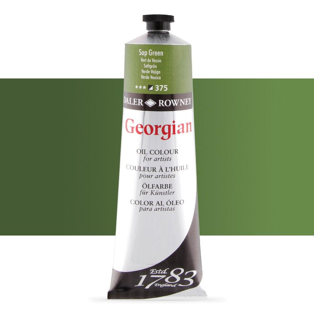 Daler Rowney : Georgian Oil Paint : 225ml : Sap Green