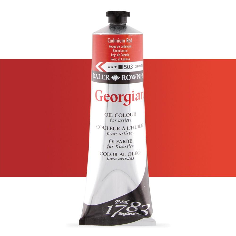 Daler Rowney : Georgian Oil Paint : 225ml : Cadmium Red Hue